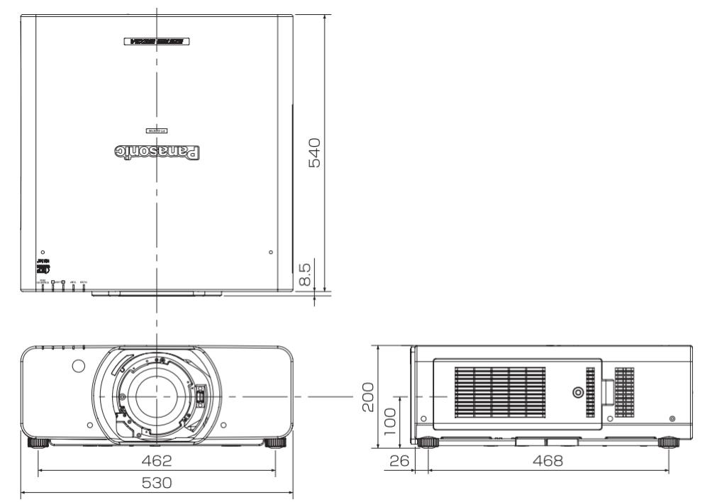 Panasonic 3チップDLPプロジェクター(PT-DZ8700)