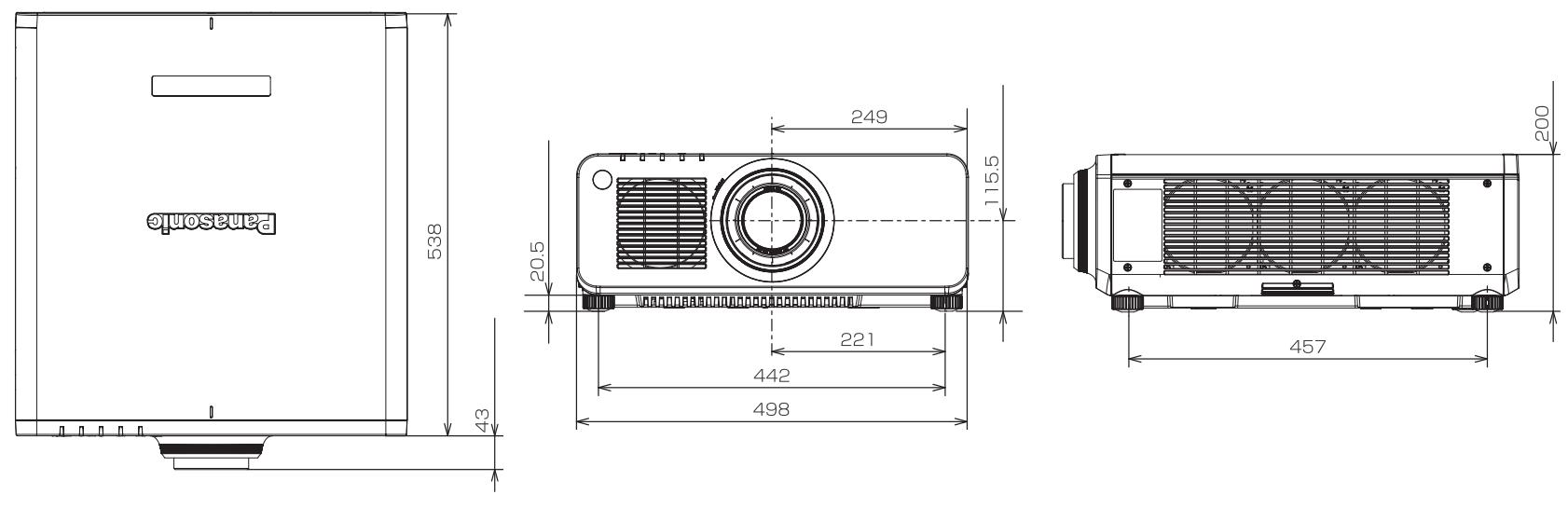 Panasonic 1チップDLPプロジェクター(PT-RW620JB)