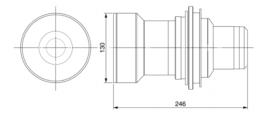 Panasonic 中焦点ズームレンズ(TY-D75LE3)