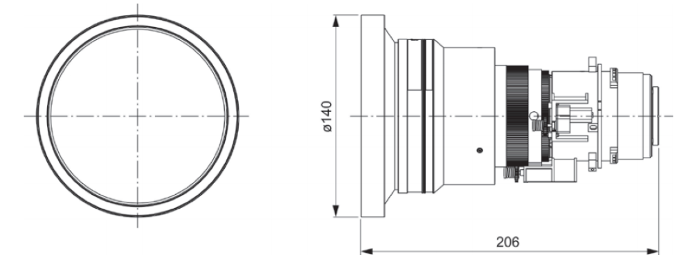 Panasonic 短焦点ズームレンズ(ET-DLE085)