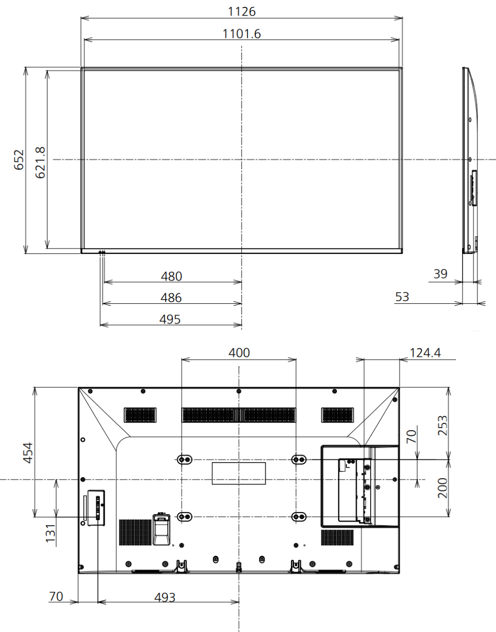 Panasonic 50インチ液晶ディスプレイ(TH-50LFE7J)のレンタル商品詳細 ...