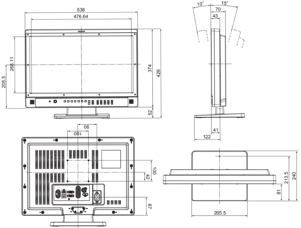 Panasonic 21.5インチ液晶モニター(BT-L2150)