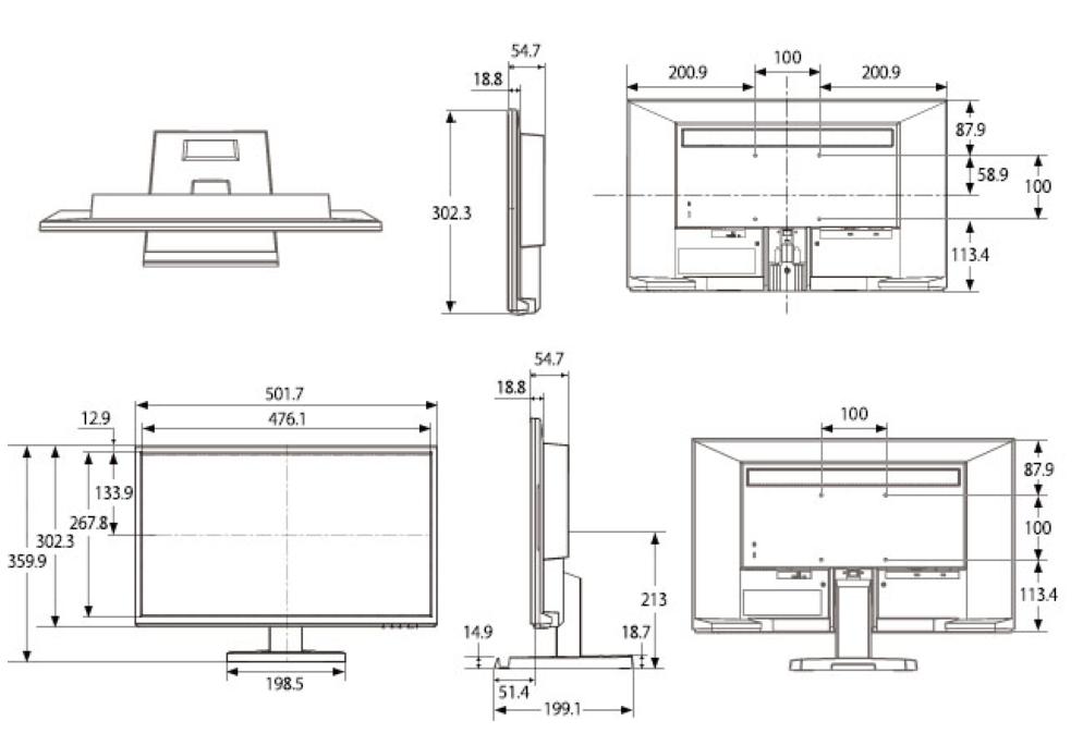 I-O DATA 21.5インチ液晶モニター(LCD-AD223EDB)