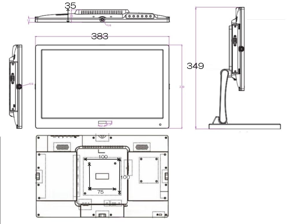 ADTECHNO 15.6インチ4K液晶モニター(UH1560)