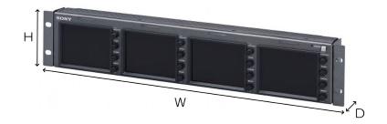SONY 4インチ4連モニター(LMD-4420)