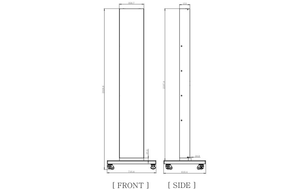LG ストレッチディスプレイ専用縦型自立スタンド(PL-S860)