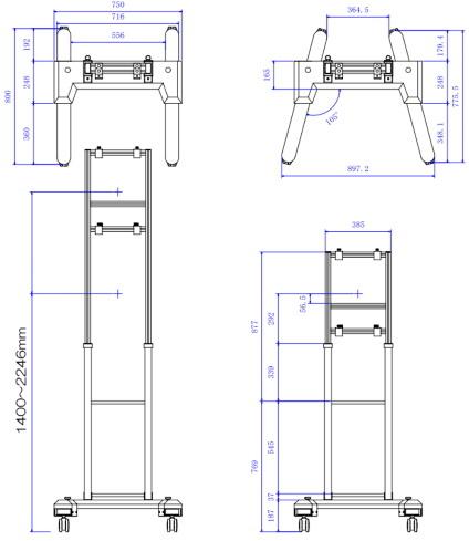 RATEC モニター自立スタンド(STD-R02)