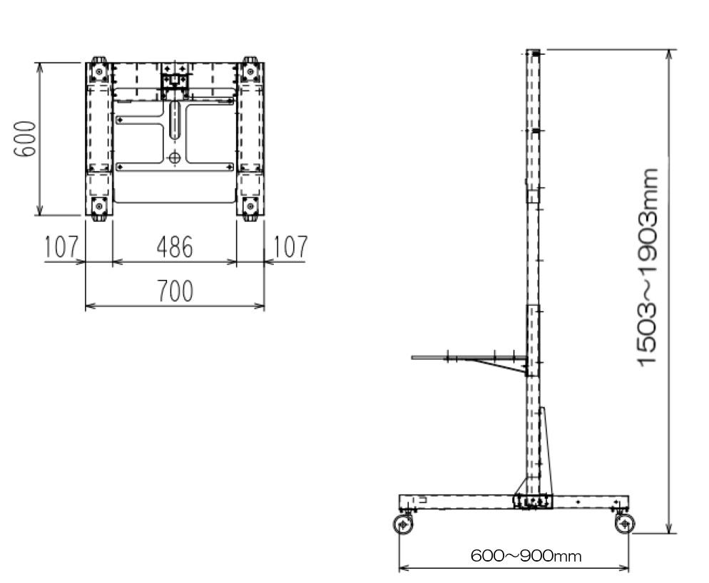 ARMOR モニター自立スタンド(ST-PD03)