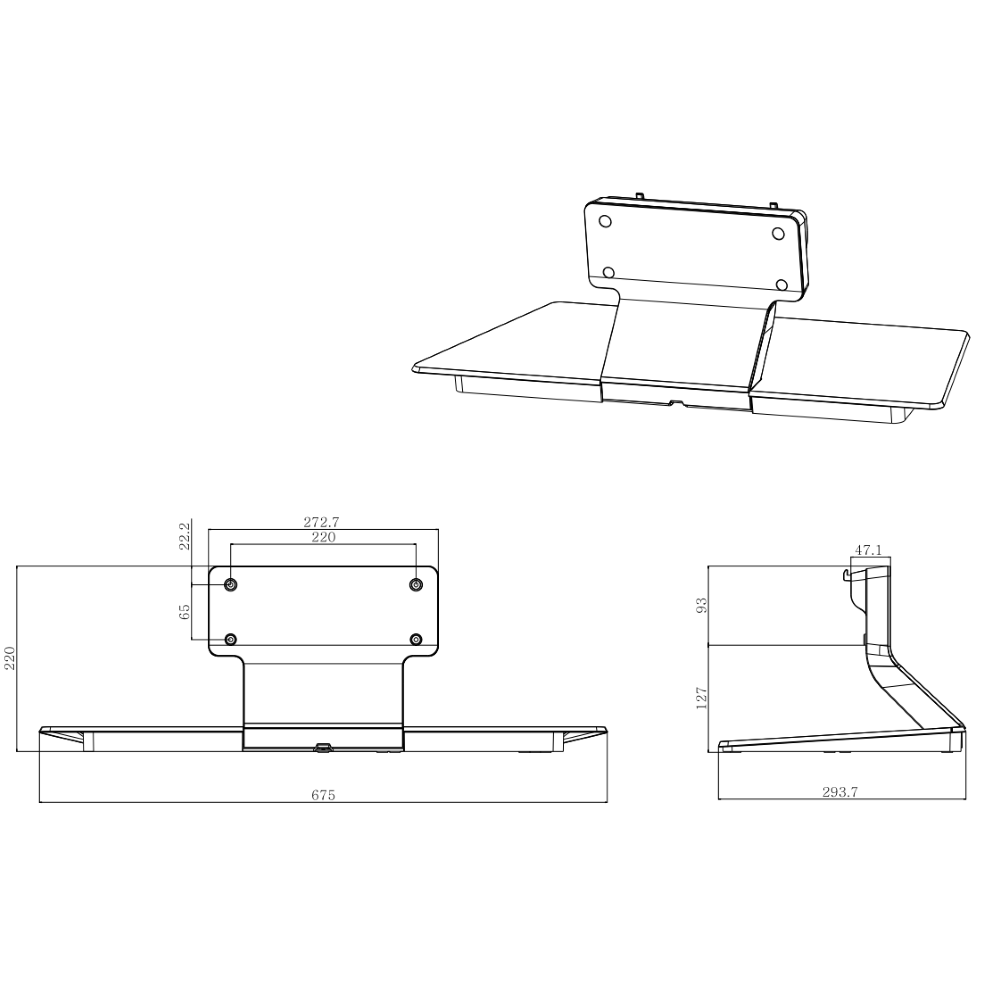 LG モニター卓上スタンド(ST-652T)