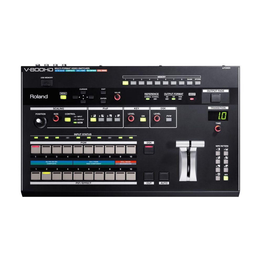 Roland マルチフォーマットビデオスイッチャー(V-800HD)