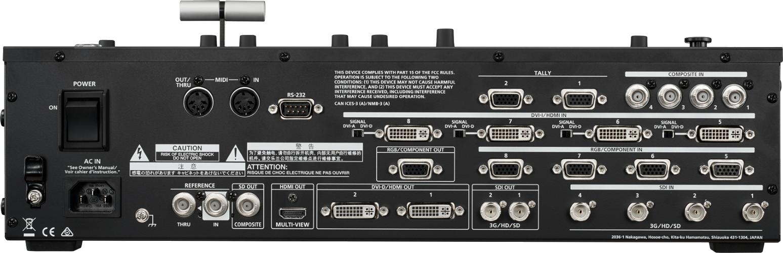 Roland マルチフォーマットビデオスイッチャー(V-800HD MKⅡ)