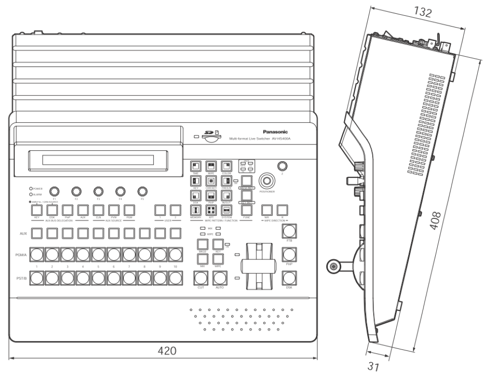 Panasonic マルチフォーマットライブスイッチャー(AV-HS400A)