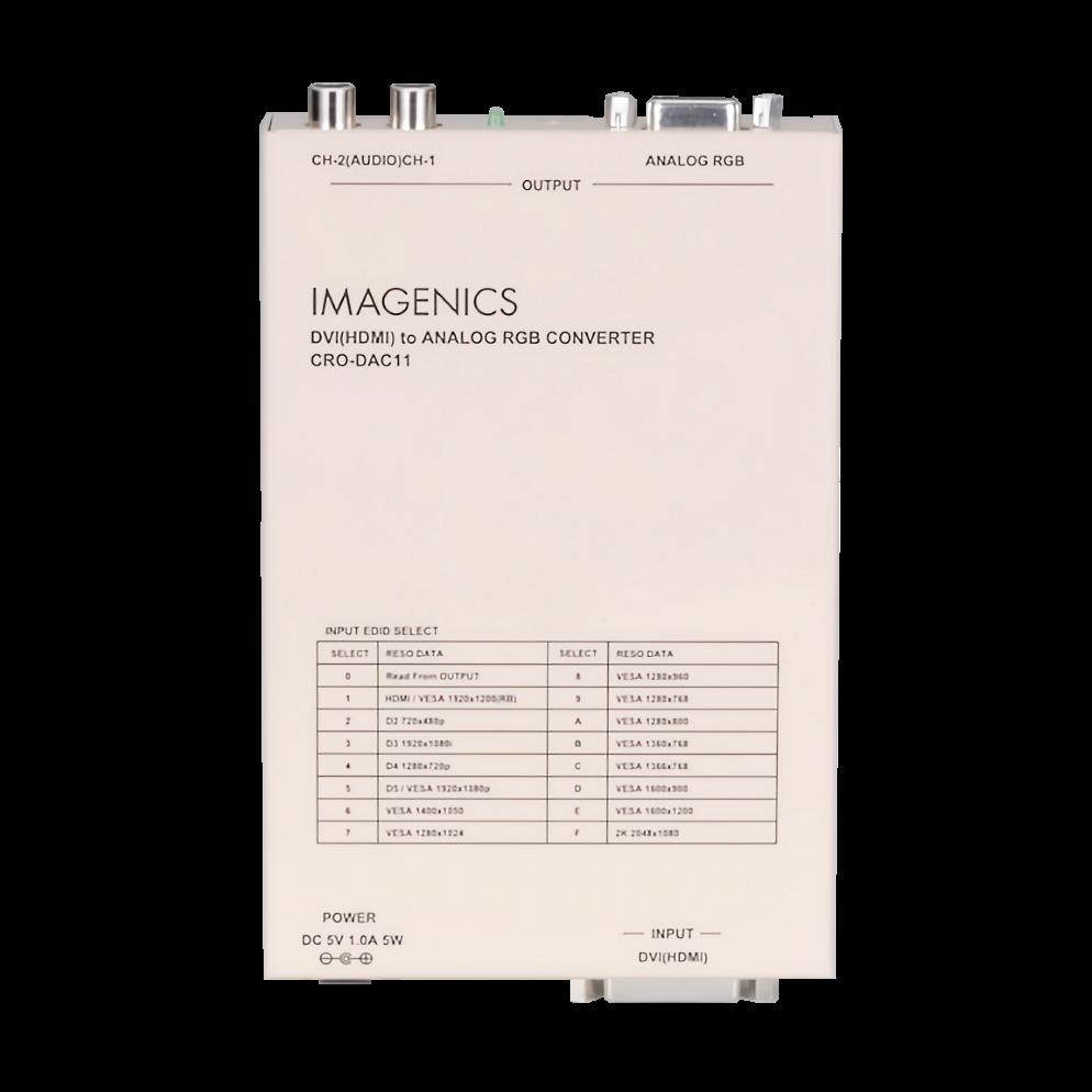 IMAGENICS アナログRGBコンバーター(CRO-DAC11)