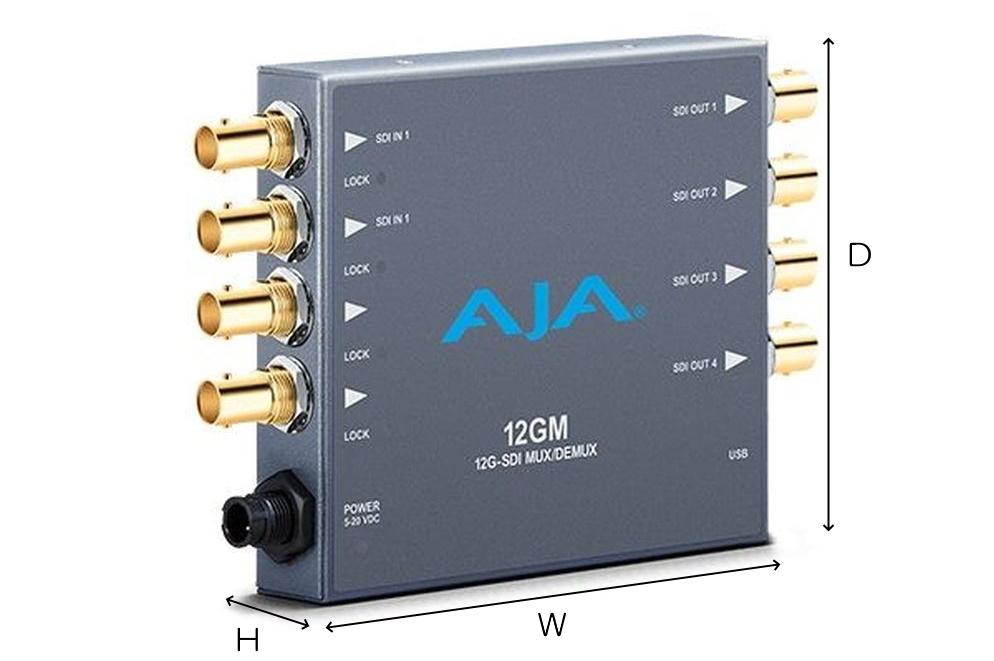AJA 12G-SDIマルチプレクサー/デマルチプレクサー(12GM)