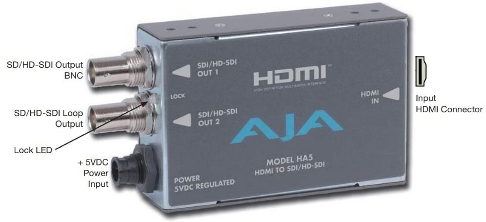 AJA HDMI to SDIコンバーター(HA5)