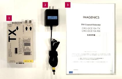 IMAGENICS DVI同軸延長送信器(CRO-DCE15ATX)