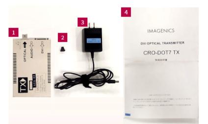 IMAGENICS DVI光送信器(CRO-DOT7TX)