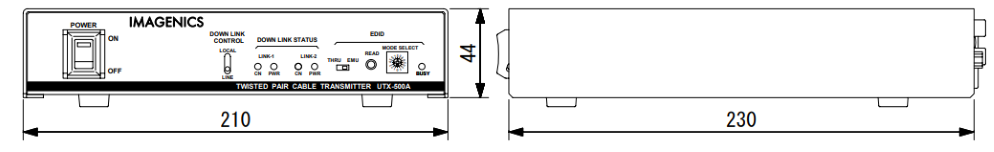IMAGENICS ツイストペアケーブル信号送信器(UTX-500A)