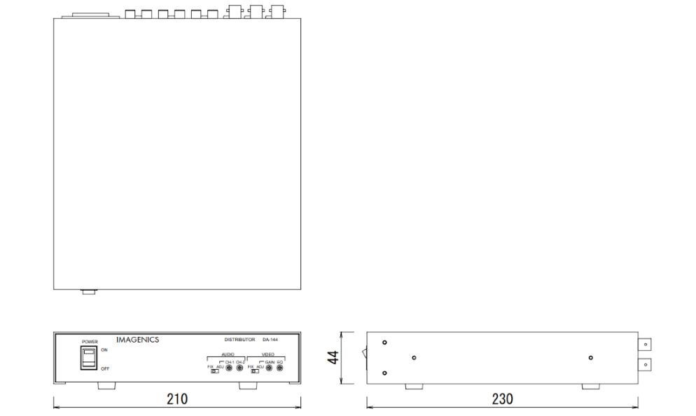 IMAGENICS 映像・音声分配器(DA-144)