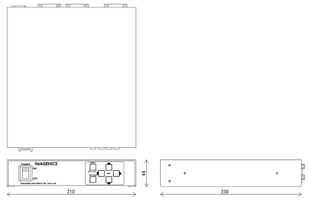 IMAGENICS DVI分配器(DVH-14A)