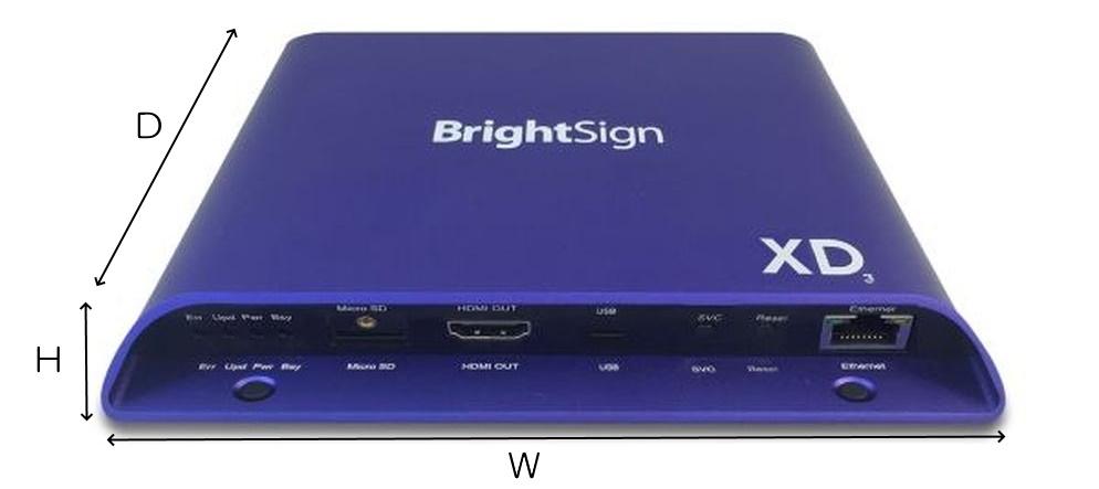 BrightSign メディアプレーヤー(XD1033)