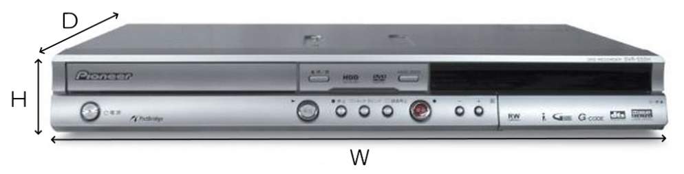 Pioneer HDD/DVDレコーダー(DVR-555H)のレンタル商品詳細|エージー ...
