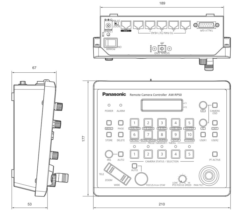 Panasonic リモートカメラコントローラー(AW-RP50N)
