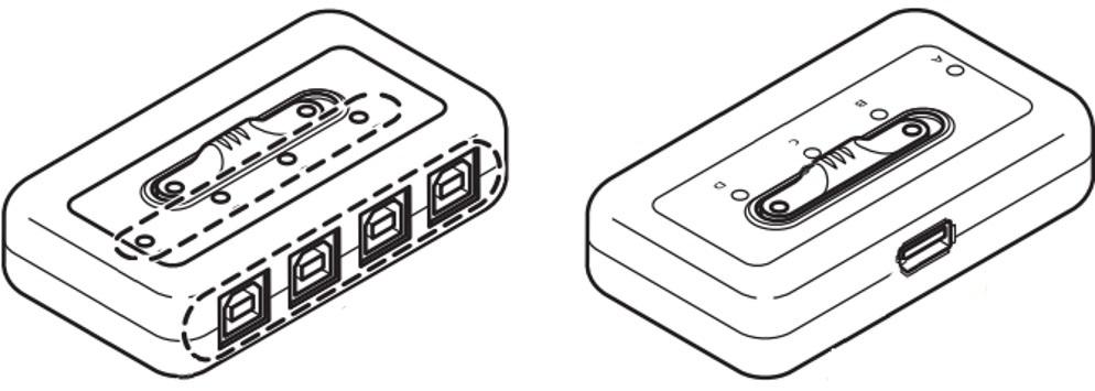 ELECOM USBセレクター(U2SW-T4)