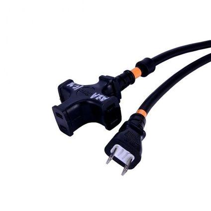 正和電工 平行電源ケーブル(2P 1.25sq 3口) 10m