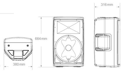 JBL パワードスピーカー(EON612)