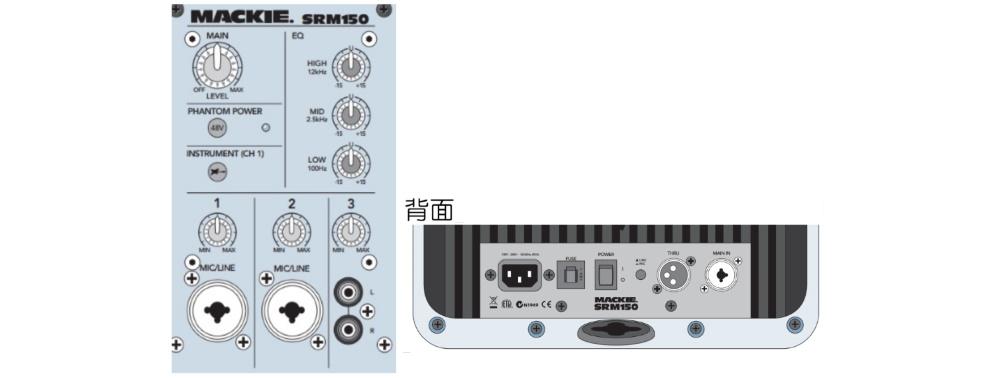 MACKIE パワードスピーカー(SRM150)