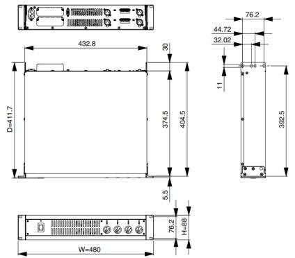 YAMAHA 4chパワーアンプ(XM4180)