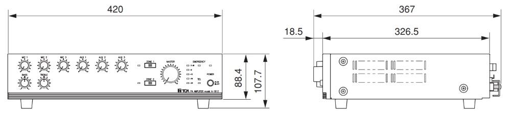 TOA ハイインピーダンスアンプ(A-1812)ホーンスピーカー用