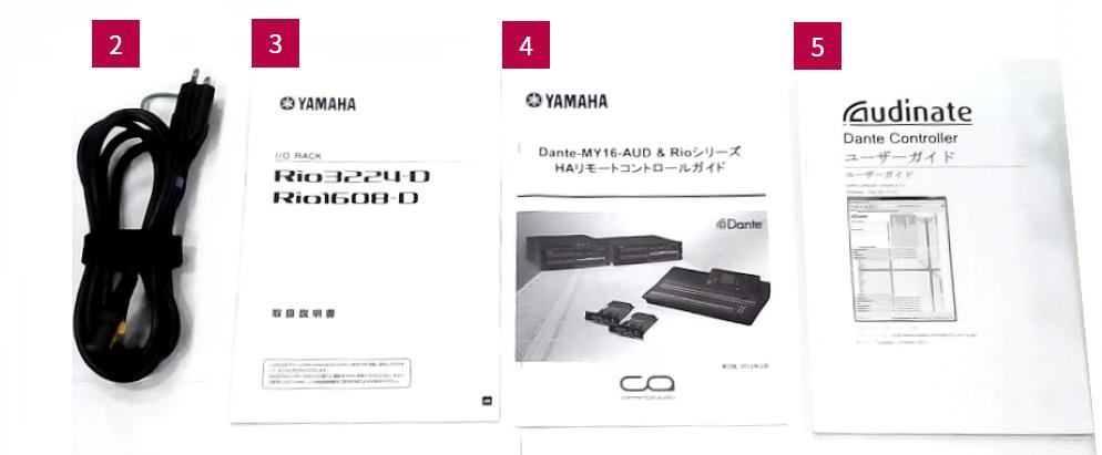 YAMAHA I/Oラック(Rio1608-D)