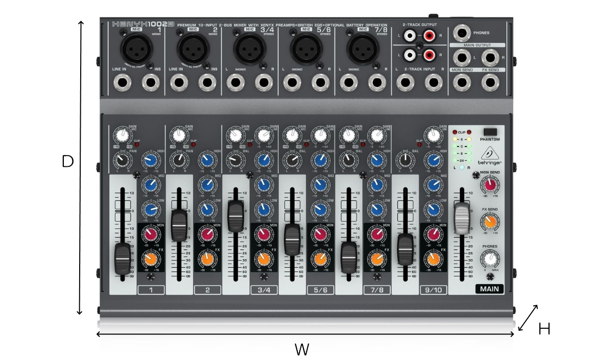 BEHRINGER 10chアナログミキサー(XENYX1002B)