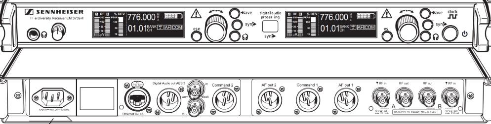 SENNHEISER WS帯ワイヤレスチューナー(EM 3732 COM-Ⅱ N-GB)