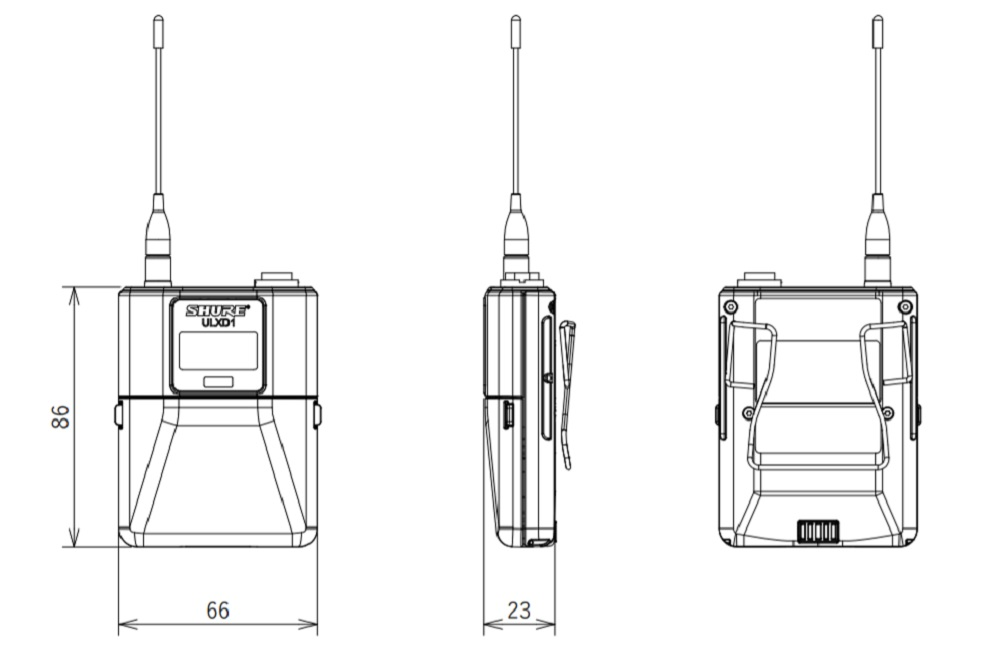 SHURE 1.2GHz帯デジタルワイヤレストランスミッター(ULXD1-Z16)