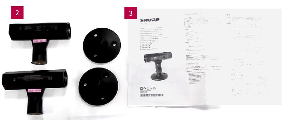SHURE 1.2GHz帯アンテナ・ブースター(UA834Z16)*2個1組
