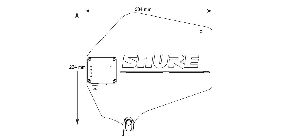 SHURE 1.2GHz帯アクティブ指向性アンテナ(UA874Z16)2個1組