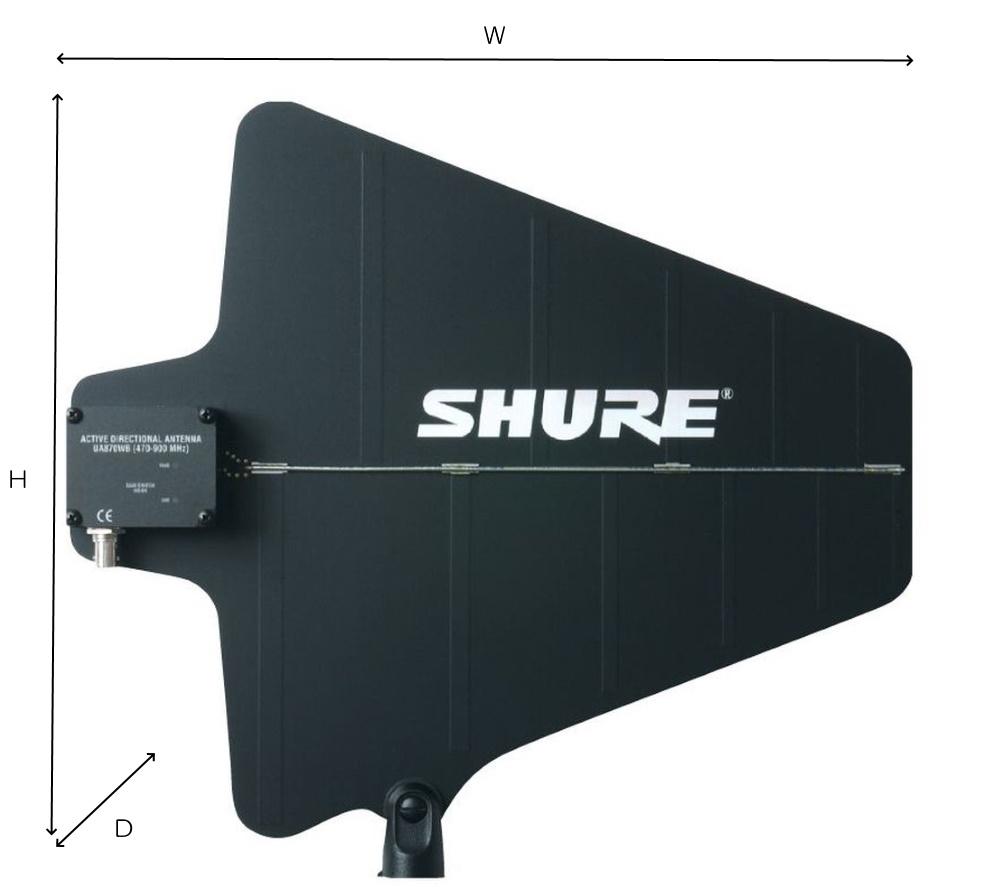 SHURE B帯アクティブ指向性アンテナ(UA870WB)*2個1組