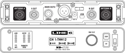 LINE6 2.4GHz帯ワイヤレスチューナー(RX212)