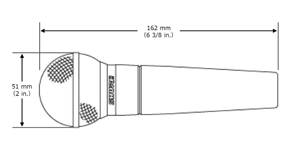 SHURE ダイナミックマイク(SM58-LCE) スイッチなし