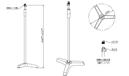 TOA 油圧式マイクスタンド(ST-310F)