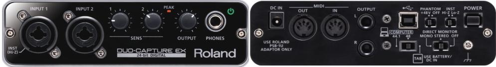 Roland オーディオインターフェース(DUO-CAPTURE EX)