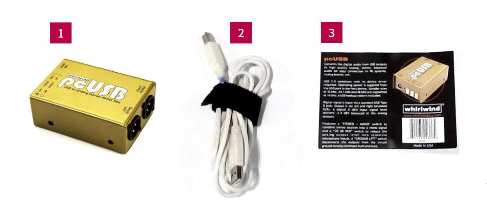 Whirlwind USB出力用ダイレクトボックス(PCUSB)