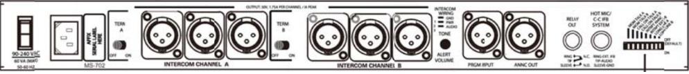 ClearCom 有線クリアカム メインステーション(MS-702/CC-100)