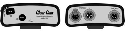 ClearCom 有線クリアカム 1chベルトパック(RS-701/CC-100)
