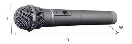 Panasonic パナガイド用ハンドマイク型送信機(WX-1700)