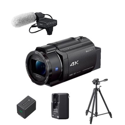 4Kビデオカメラ バッテリーマイク三脚セット(FDR-AX45)